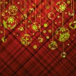 Christmas background with baubles. EPS 8 - Imagen vectorial