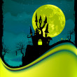 Illustration of dark scary halloween night. EPS 8 - Stock Vector
