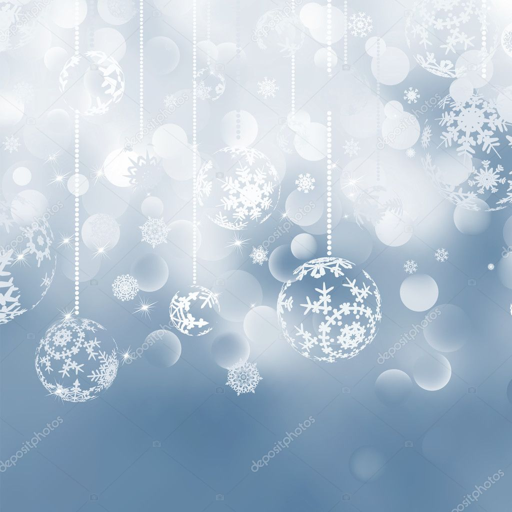 Christmas bokeh background with baubles. EPS 8 vector file included  — Stock Vector #7156337