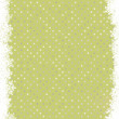 Royalty-Free Stock Vector Image: Green polka dot design with snowflakes. EPS 8