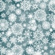 Blue abstract christmas background with snowflake. EPS 8 vector file included — Stock Vector