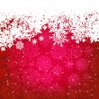 Beautiful red happy Christmas card. EPS 8 — Imagen vectorial