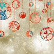 Christmas baubles on elegant background. EPS 8 -  
