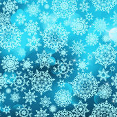 Blue abstract christmas with snowflake. EPS 8 — Stock Vector