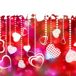 Beautiful valentine day card with copyspace. EPS 8 — Imagens vectoriais em stock