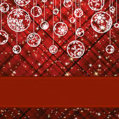Christmas background with baubles. EPS 8 — Stock Vector