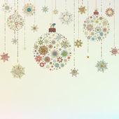 Stylized Christmas Balls, On beige. EPS 8 — Stock Vector