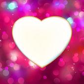Abstraktní srdce karta v červené barvě. eps 8 — Stock vektor