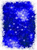 Blue grunge christmas background. EPS 8 — Stock Vector