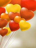 Spona červený gel balónky srdce. eps 8 — Stock vektor