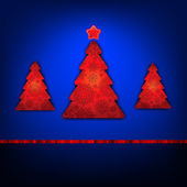 Christmas trees card template. EPS 8 — 图库矢量图片