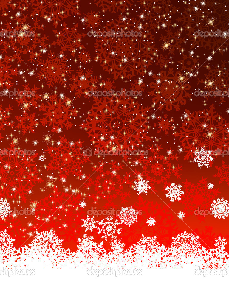 Christmas decoration background with copy space. EPS 8 vector file included — Stock Vector #7507440