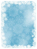 Blue christmas background with snowflakes. EPS 8 — Stock Vector