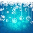 Beautiful blue happy Christmas card. EPS 8 — Imagen vectorial