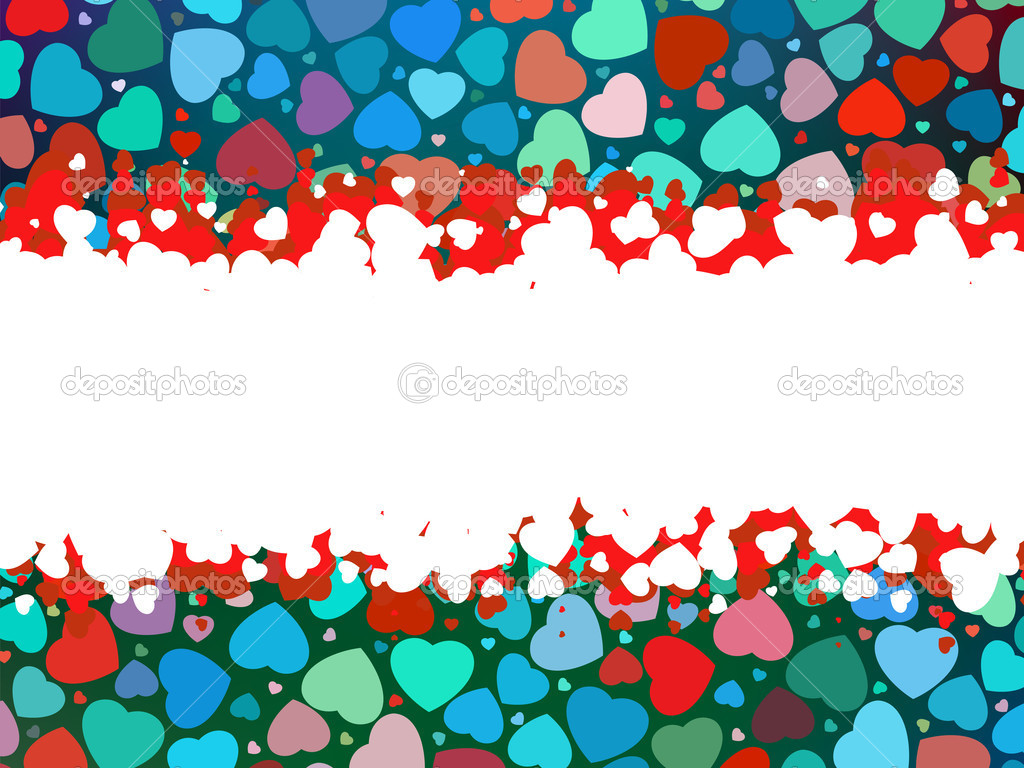 Beautiful colorful heart shape background. EPS 8 vector file included — Stock Vector #7776710