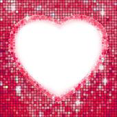 Różowy rama w kształcie serca. eps 8 — Wektor stockowy