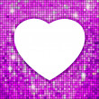 Purple frame in the shape of heart. EPS 8 — Stockvectorbeeld