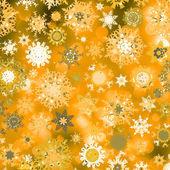 оранжевый абстрактный рождество с снежинка. eps 8 — Cтоковый вектор