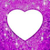 Telaio viola a forma di cuore. eps 8 — Vettoriale Stock