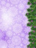 Thank you card on a bright christmas card. EPS 8 — Stock Vector