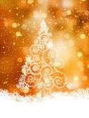 Shinny Christmas Tree. EPS 8 — Stock Vector