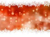 Orange background with snowflakes. EPS 8 — Stock Vector