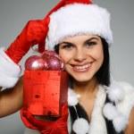 Beautiful and sexy woman wearing santa clause costume — Stock Photo #6770007