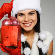 Beautiful and sexy woman wearing santa clause costume — Stock Photo #6770008