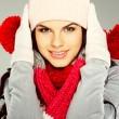 A photo of beautiful girl is in winter clothes — Stock Photo #6823097