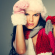 A photo of beautiful girl is in winter clothes — Stock Photo #6823123