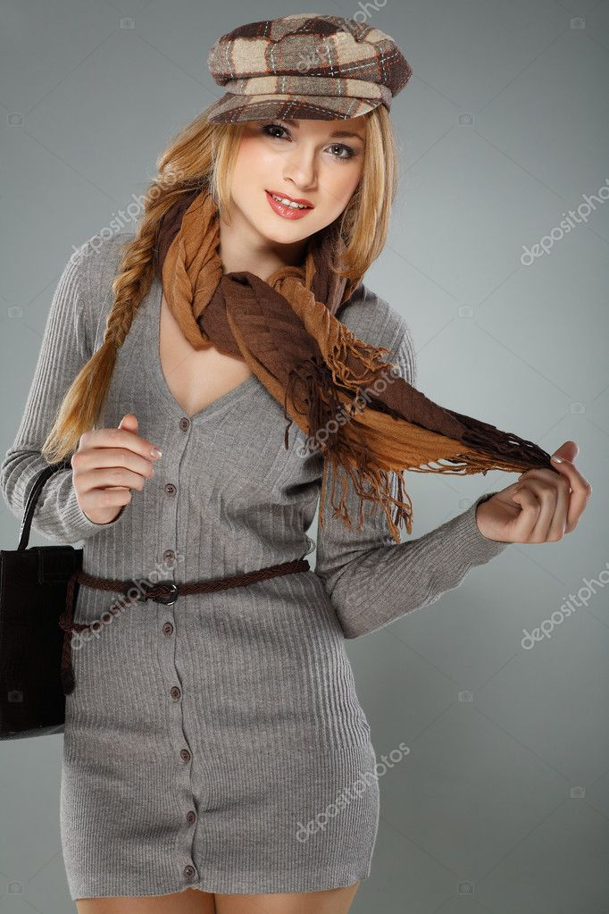 A photo of sexual  beautiful girl is in fashion style — Stock Photo #6947227