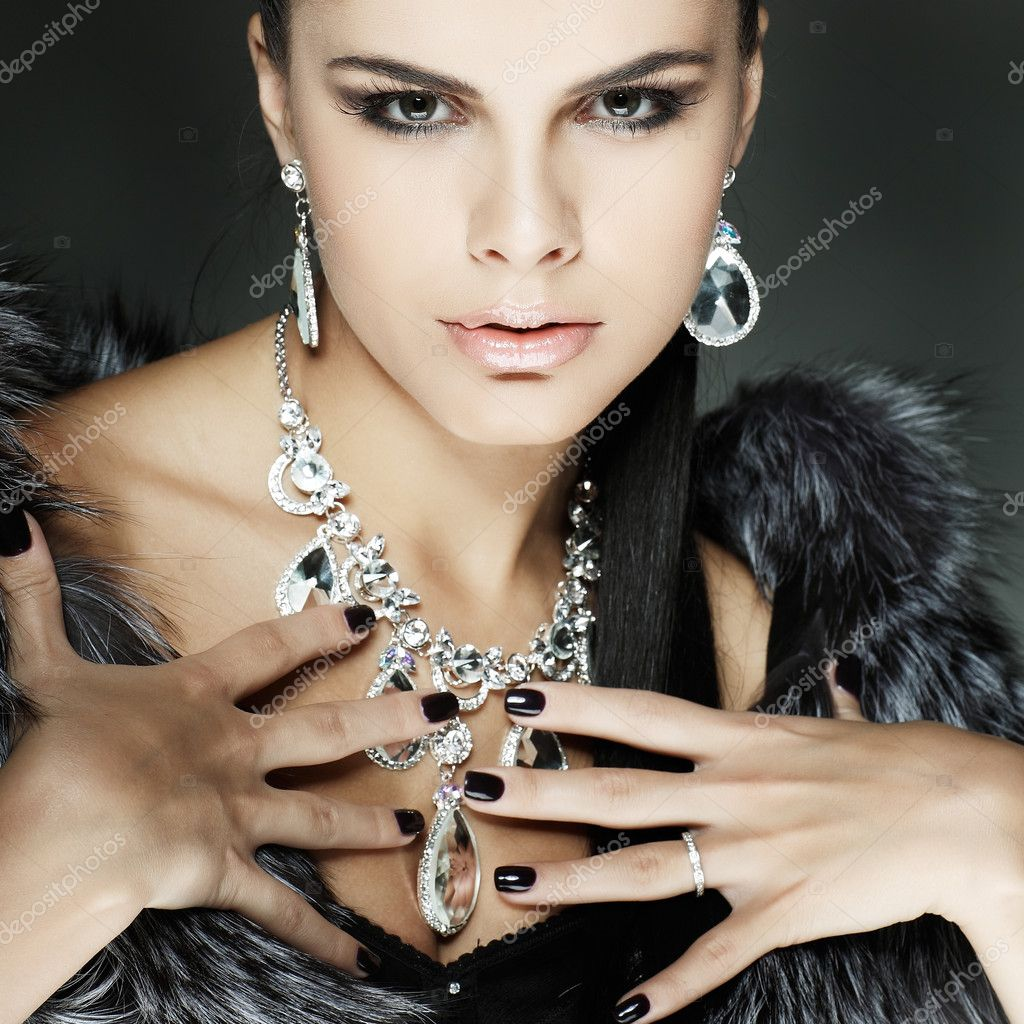 A photo of sexual beautiful girl is in fashion style  Stock Photo #7252574