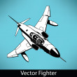 Stock Vector: Vector Fighter