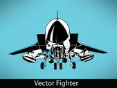 Vector Fighter — Vettoriale Stock