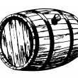 Stock Vector: Art illustration of barrels