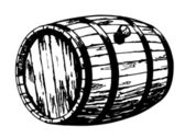 Art illustration of barrels — Stock Vector