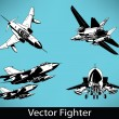Stock Vector: Vector Fighter Set