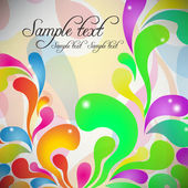 Abstract flower background vector — Vector de stock