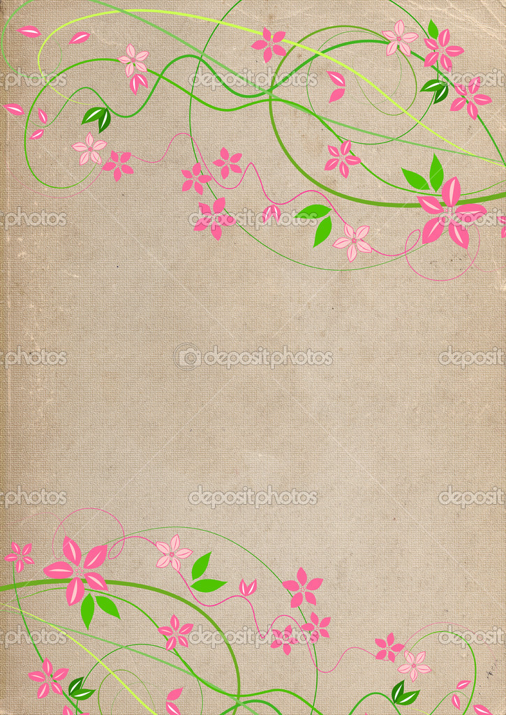 Delicate background with pink lowers  — Stock Photo #6913841