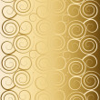 Delicate golden background with swirls — Foto Stock