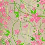 fina, naturliga beige bakgrund med rosa sänker — Stockfoto