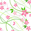 Delicate background with pink lowers - Stock Photo