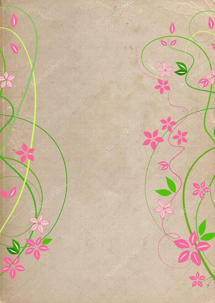 Delicate background with pink lowers  — Stock Photo #6951845