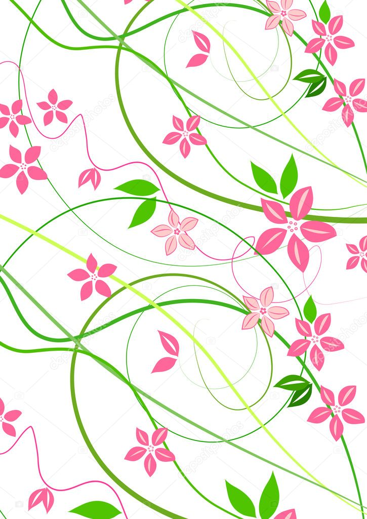 Delicate background with pink lowers  — Foto Stock #6952050