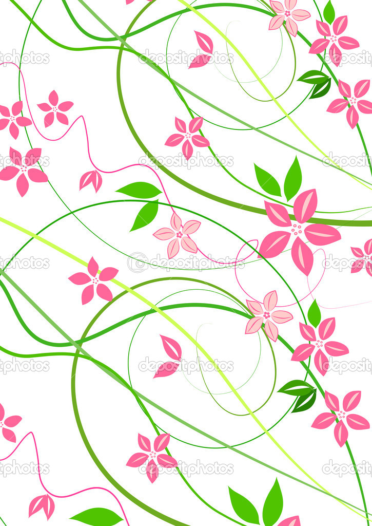 Delicate background with pink lowers   Stockfoto #6952050