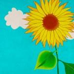 Sunflower, grungy illustration — Stock Photo