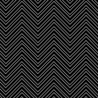 Trendy chevron patterned background, black and white - ストック写真