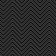 Trendy chevron patterned background, black and white - Stockfoto