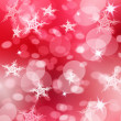 Christmas background with snowflakes and stars — Stock Photo
