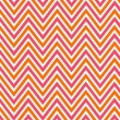 Bright chevron red, orange and white, vector pattern. — Stock Photo
